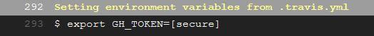 Travis log with decrypted GH_TOKEN